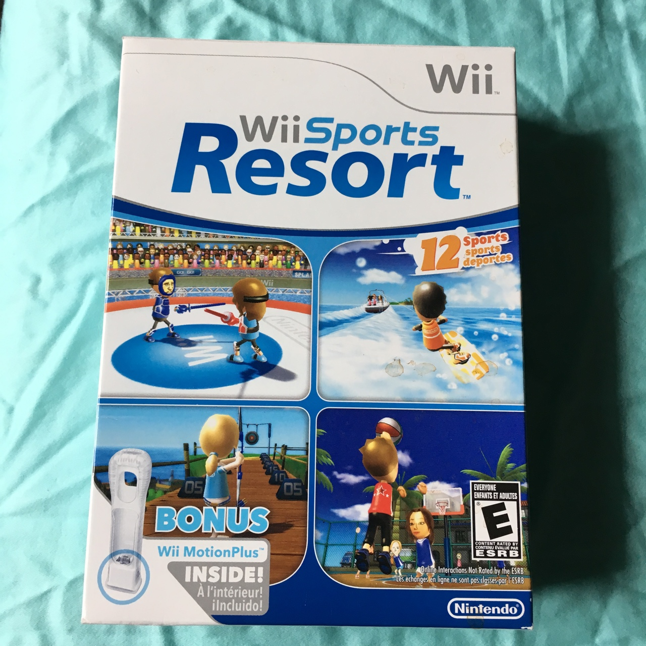 Wii sports resort set! Comes with motion plus cover    - Depop