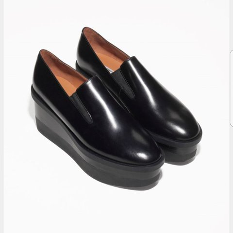 ea247adbb New without box. & Other Stories Black Leather Flatform was - Depop