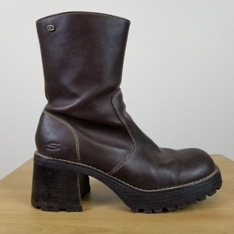 2c29a67223b24 @annamaeyonce. 6 months ago. Longmont, Boulder County, United States.  Genuine leather vintage 90s Skechers boots. Chunky platform ...