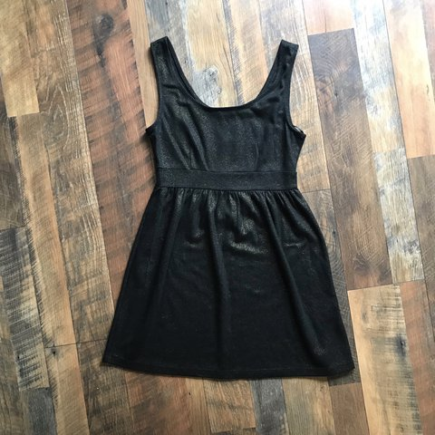 Forever 21 Black Dress With Gold Flecks Throughout Size The Depop