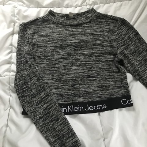 d921d19bf2050 Calvin Klein long sleeve crop top from Urban Outfitters. and - Depop
