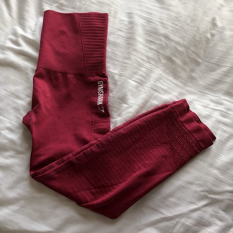 825afcbb7ffce @_kerinnn. last year. Trowbridge, United Kingdom. Gymshark high waisted  seamless cropped leggings - beet marl