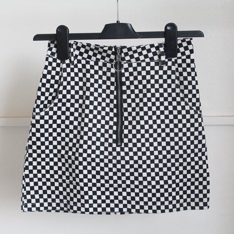 2d40bde005e9 @kate_valentine. 10 months ago. Bristol, United Kingdom. Grunge checkerboard  skirt with O-ring ...