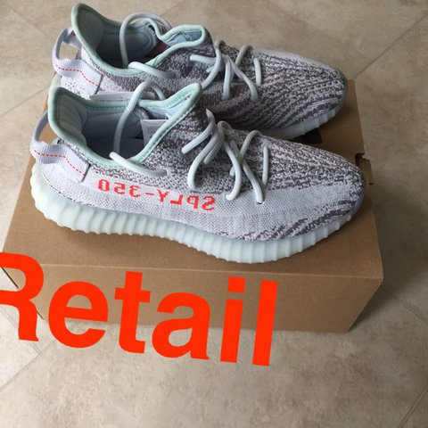 ce36895a56b Yeezy Boost 350 v2 blue tint brand new never worn with open - Depop
