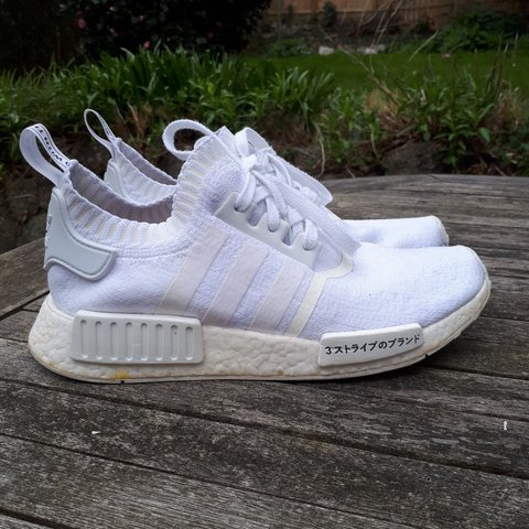 2d8bb4ee4 Adidas NMD R1 Japan Triple White Size UK 8