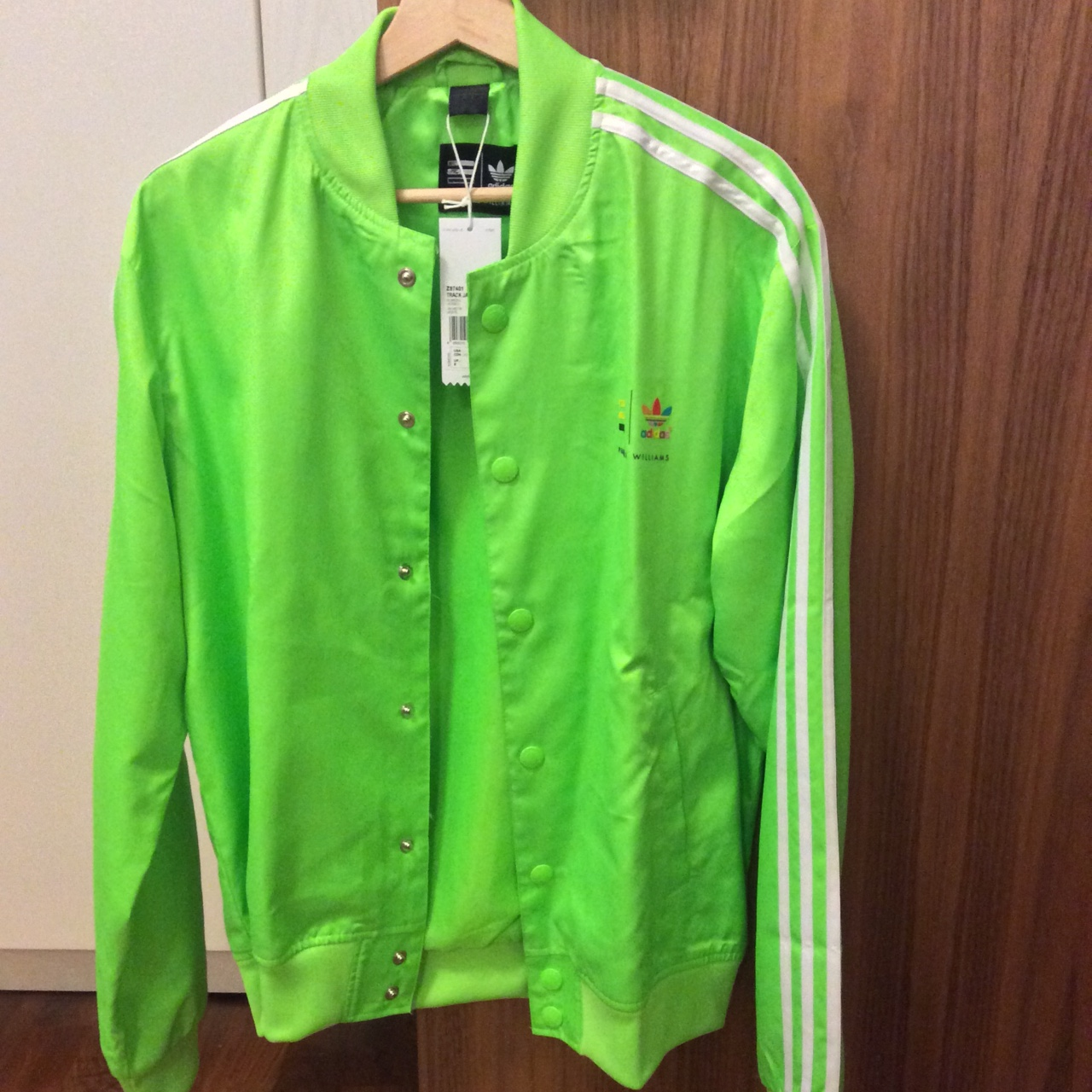 Awesome adidas x Pharrell Williams neon green Depop
