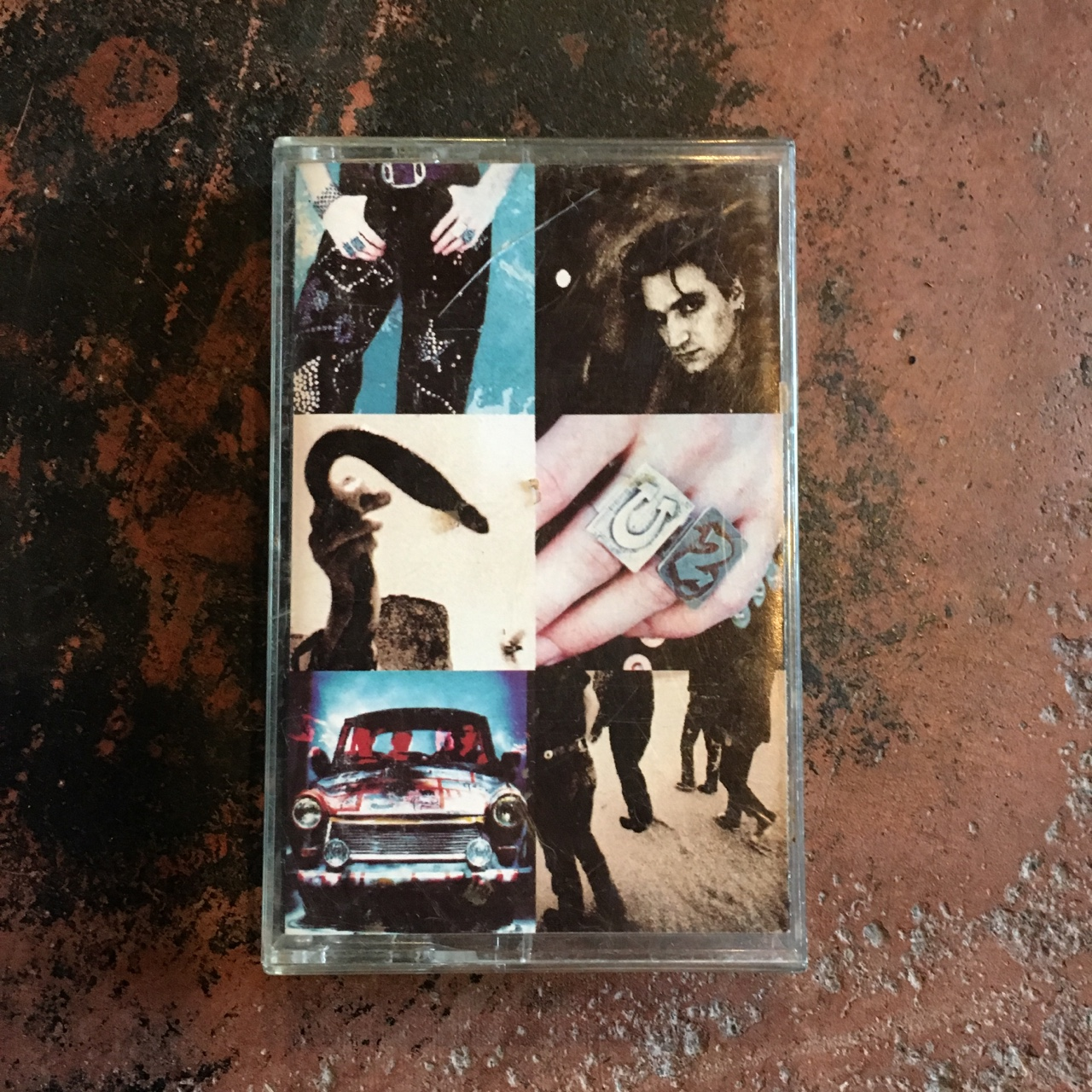 U2 Achtung Baby ©1991 some sticker residue on back