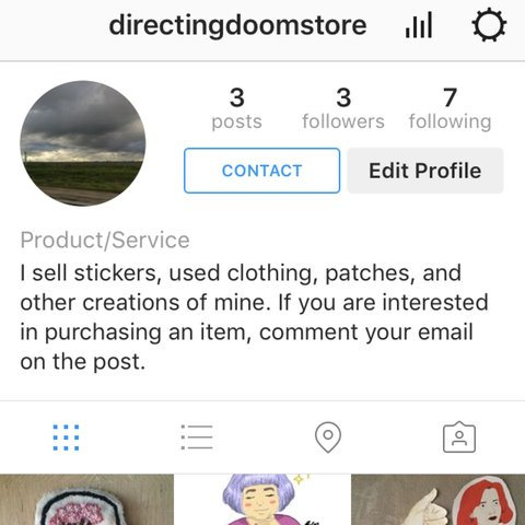 Listed on Depop by directingdoom