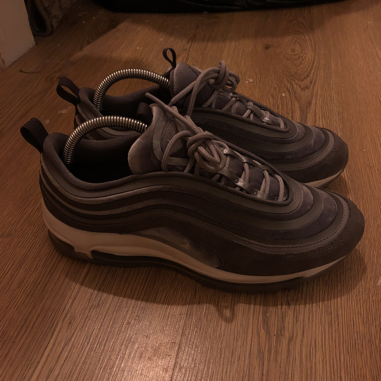 Women's Nike Air Max 97 Ultra Lux Grey. Size 7, worn Depop