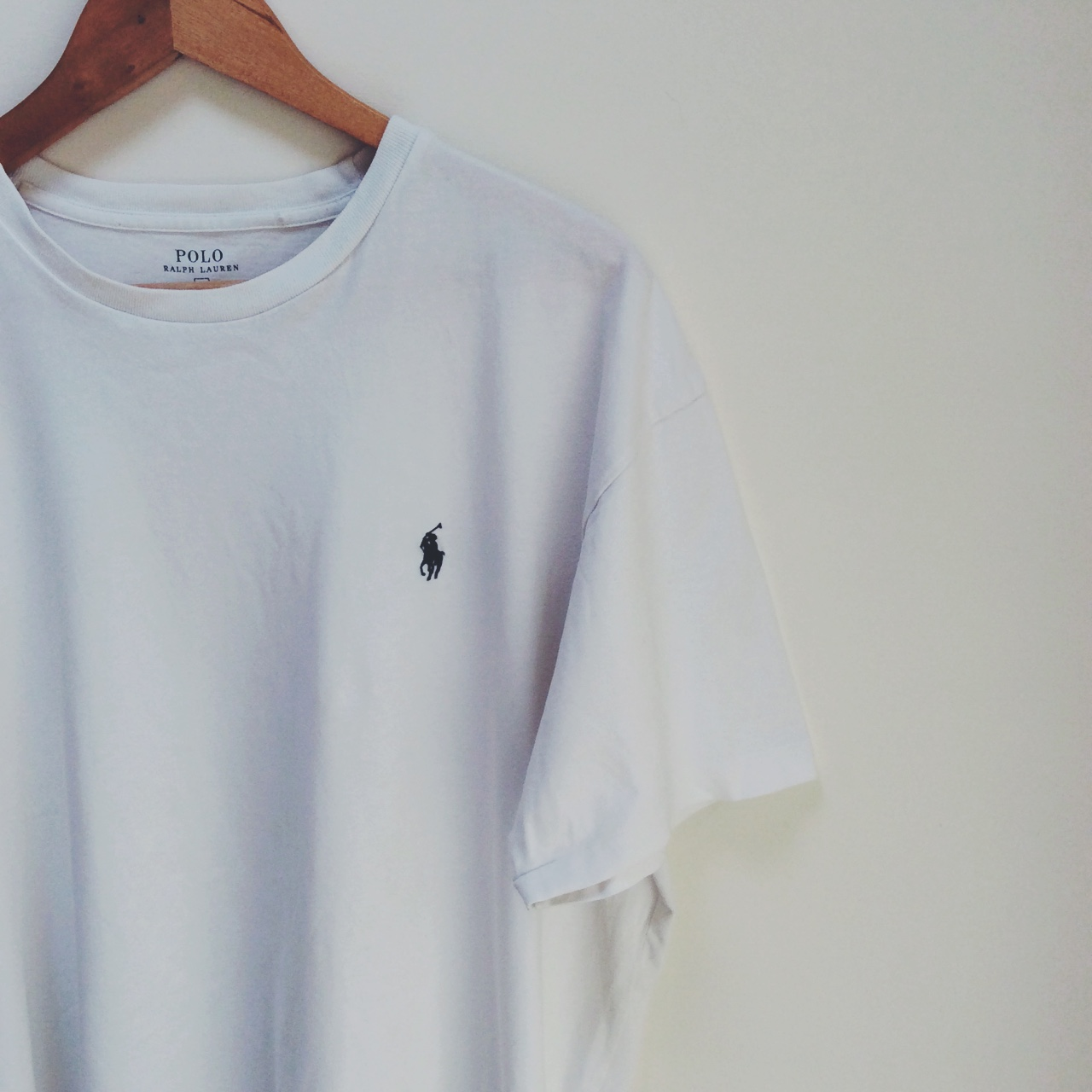 ralph lauren plain white tee shirt