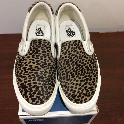 169dc0bcad Vans OG Slip-On 59 LX Leopard Print. Made with premium and - Depop