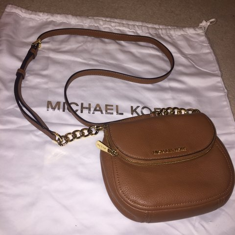 cd72961621c9 Michael Kors Bedford flap cross body leather bag.Bought in - Depop