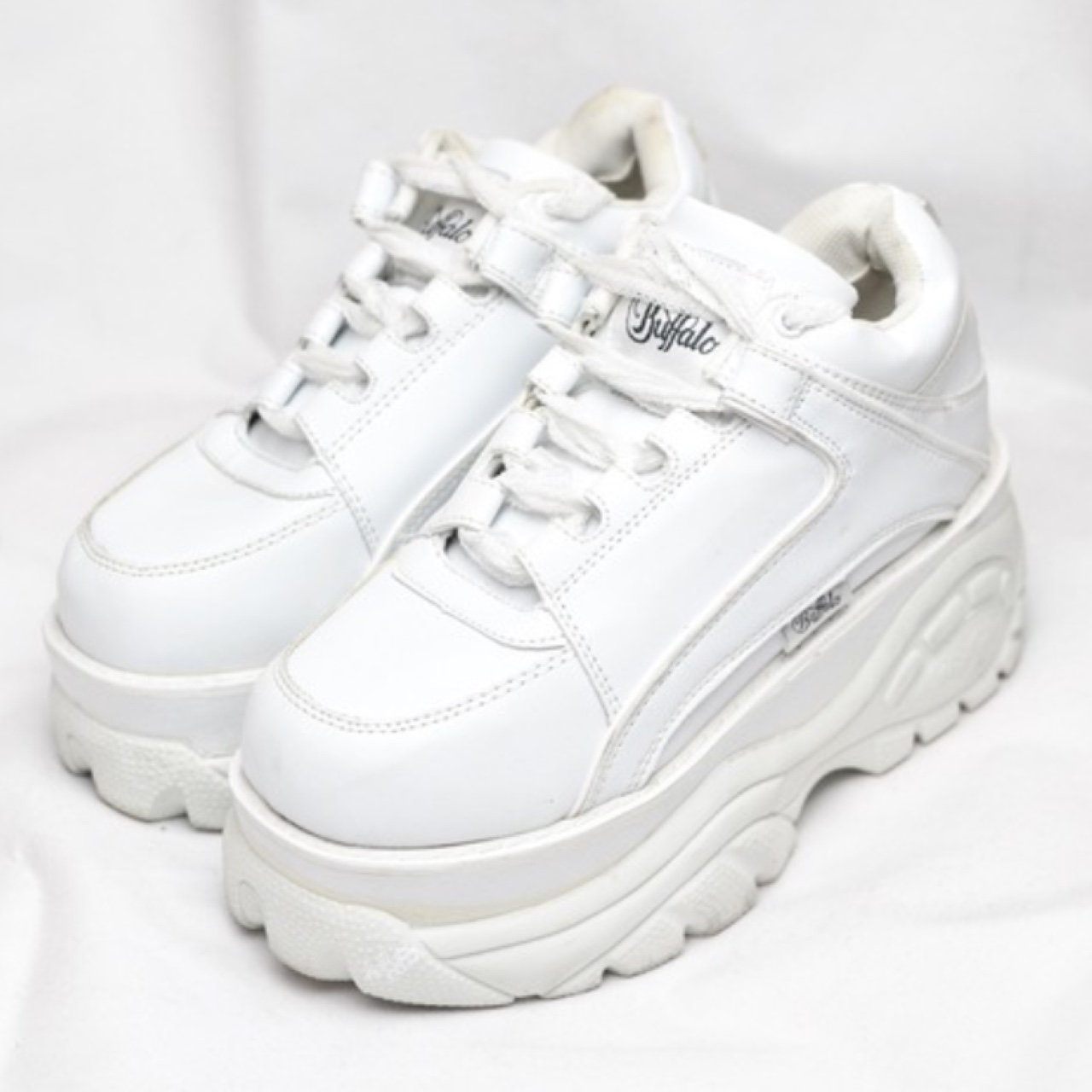 pretty nice 43b15 3c892 All white Buffalo Classics Only worn once!! Size... - Depop