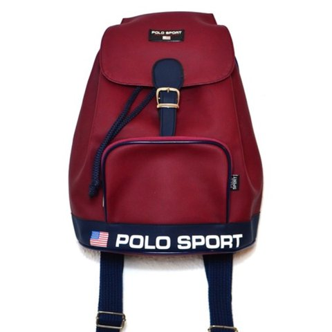 460747d98 @skylarkang. last year. Berlin, Deutschland. Vintage Nylon Red Ralph Lauren  Polo Sport A4 Backpack Bag