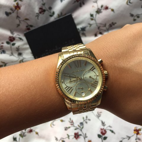 237f6ba273b1 @hramroop. 2 years ago. Kings County, United States. Michael Kors Lexington  Gold-Tone Watch.