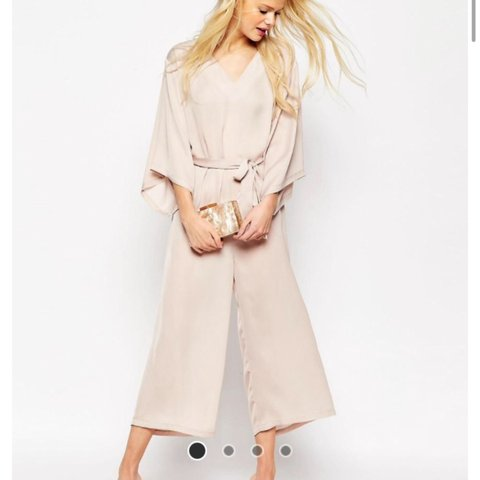 9f089810bbe Size 8 nude   dusky pink Asos jumpsuit