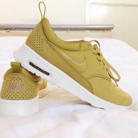 7288cf2383ef Nike Air Max Thea trainers. UK 6 Mustard colour. Only worn 2 - Depop