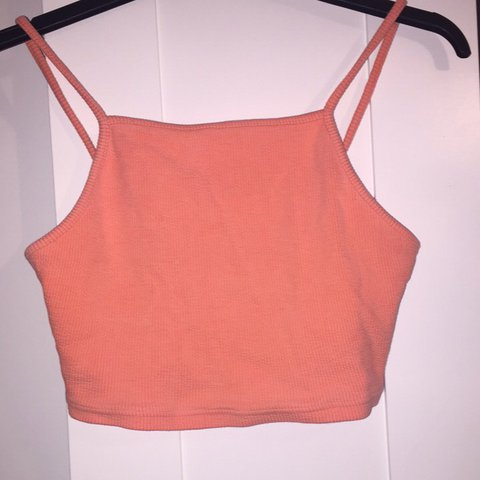 4e10850c661 Topshop Orange crop top , perfect condition size 14 but fit - Depop