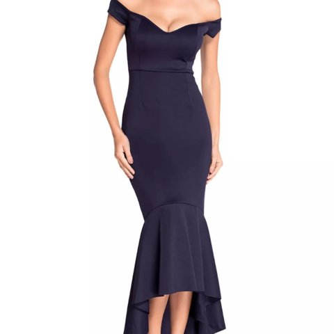 e22695036fff @kerianne55. 3 years ago. London, UK. OFFERS WELCOME! Stunning navy blue off  the shoulder mermaid dress ...