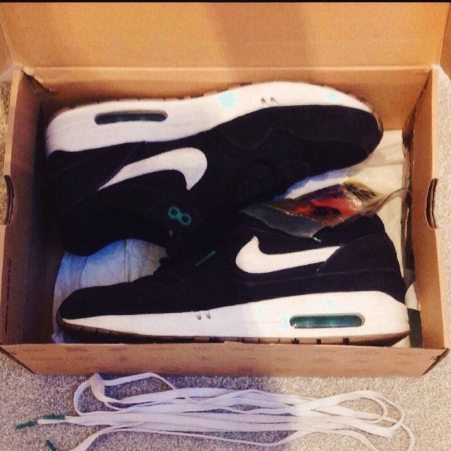 21f3fafc8c cheapest nike patta lucky green air max 1. size uk 8.5. come with and