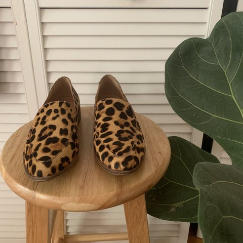 d3fea272a3a brand new  calf hair leopard print Frances loafers from I - Depop