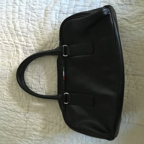 568f0a684fe6a5 Never used leather PUMA sport bag! Great from gym too street - Depop