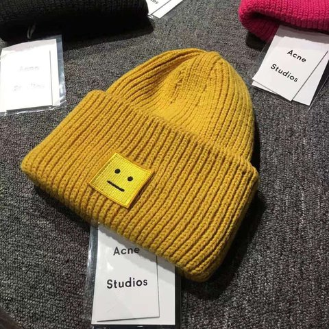 Acne Studios Knit Hat in Mustard! 100% Authentic!  winter - Depop 681673b4a4c