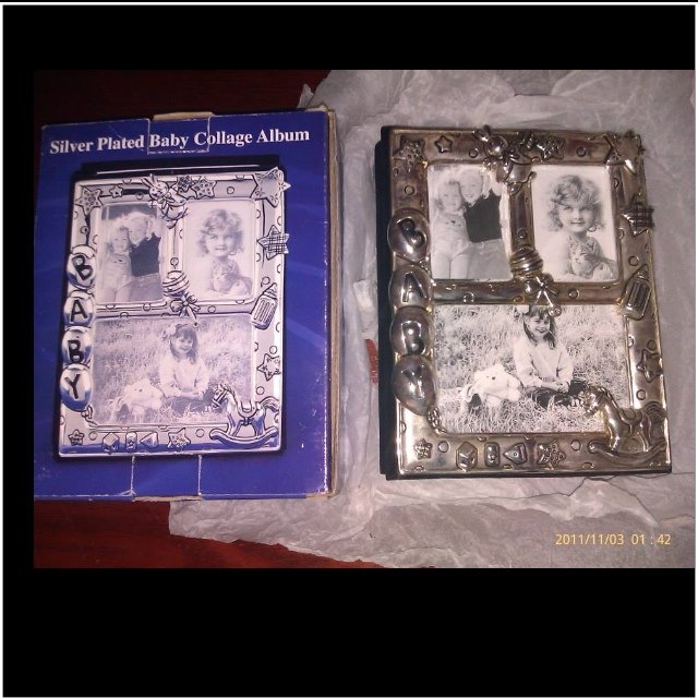 Silver Plated Baby Collage Photo Albumframe Brand New Depop