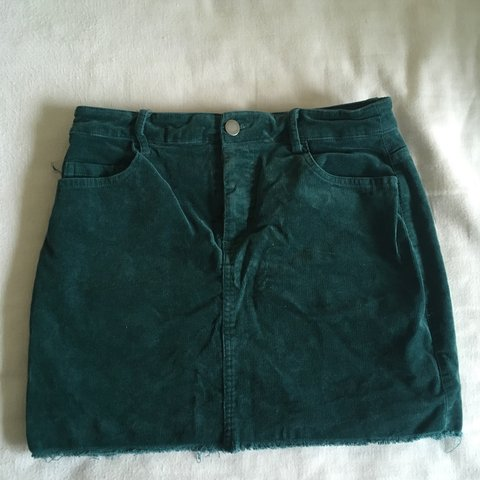 6f5111788c Forever 21 green turquoise corduroy mini skirt Size small