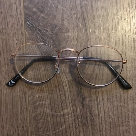 996f981f188 Glasses with rose gold frame  glasses  zara  topshop - Depop