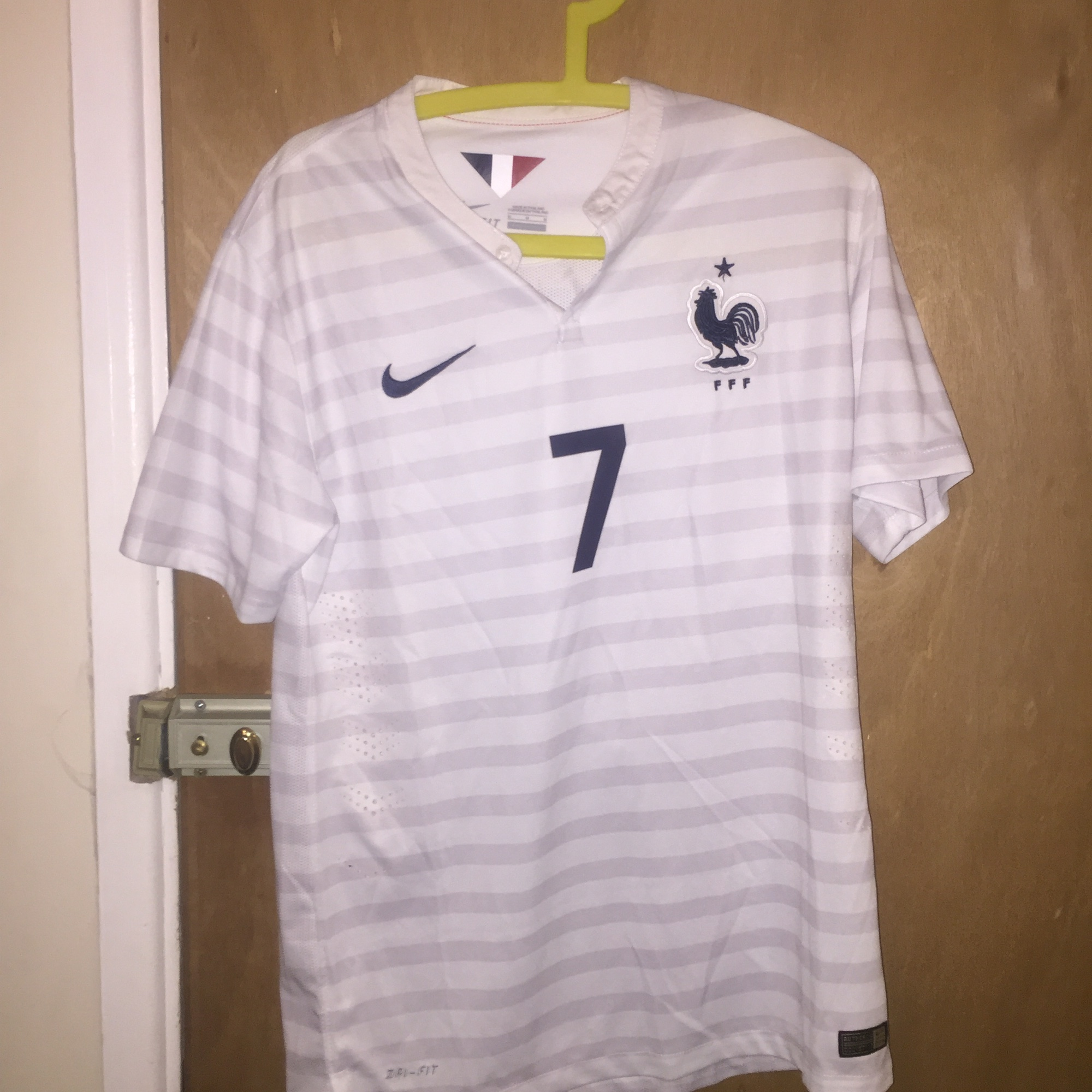 reputable site 6a558 04f7c France 2014/2015 Away Jersey - Nike - White with... - Depop