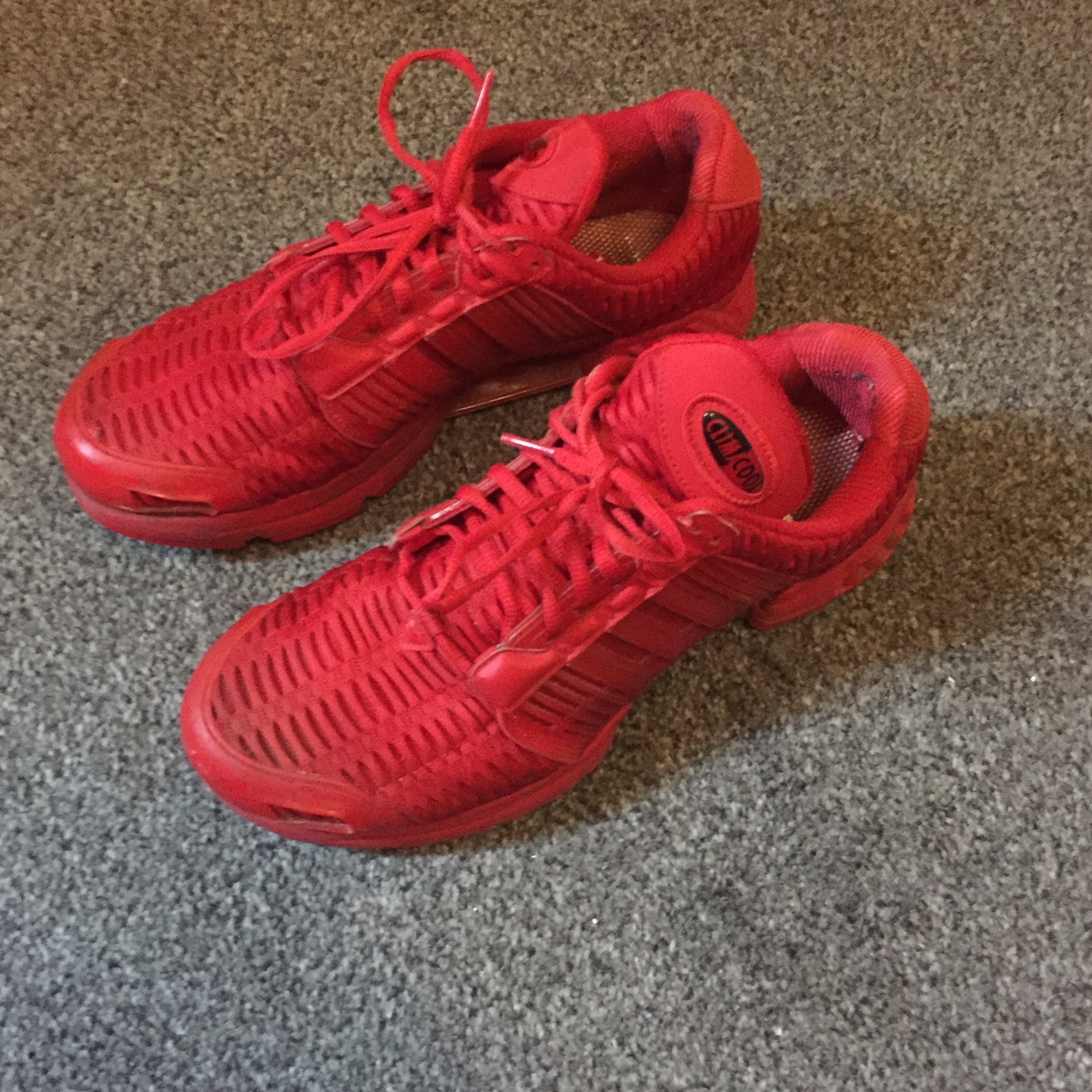competitive price 04065 9d6bb Adidas ClimaCool running shoes - Triple red - Great... - Depop