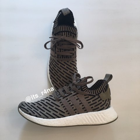 fd8878290 Adidas NMD PK olive R2 OG 🚨size 10🚨Used very lightly as on - Depop