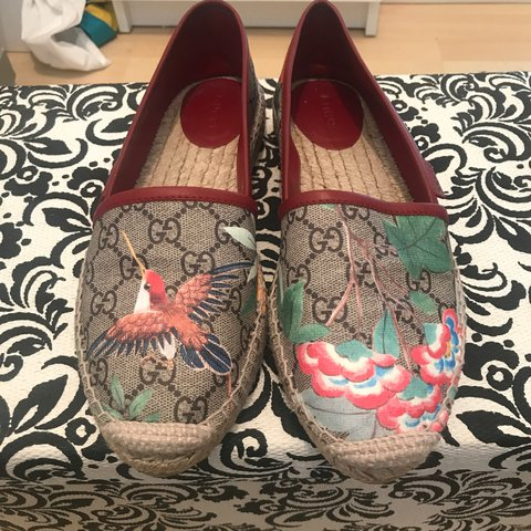 54a896176ca 100% real Gucci espadrilles! Worn once in a great condition. - Depop
