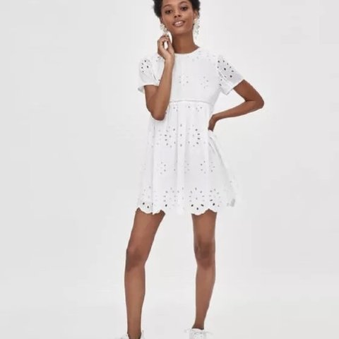 696838e9e97 Zara embroidered jumpsuit dress. Off White Brand new with - Depop
