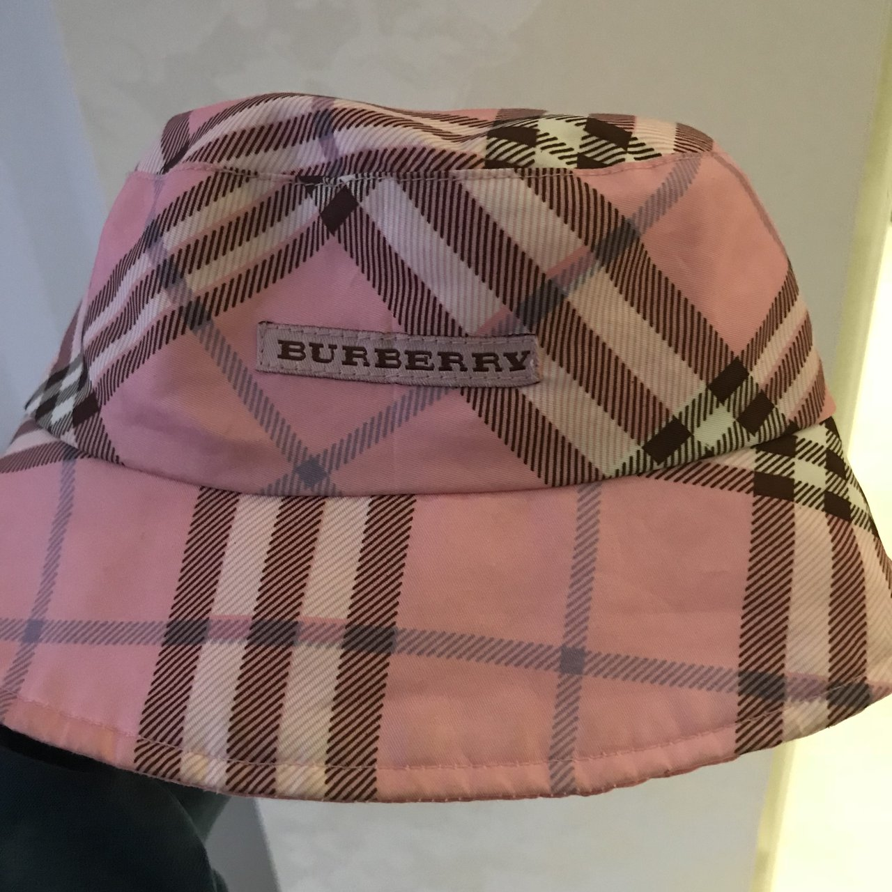Peng vintage Burberry pink check bucket hat. Bought from a a - Depop 50a5487cfbb
