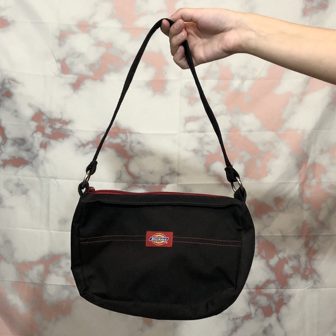 OMG iconic 2000 s black Dickies mini purse with red contrast - Depop 9e5bbe50d4644
