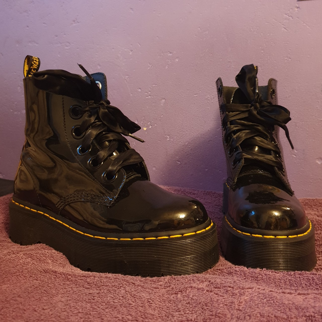 Dr. Martens Molly Patent Boots with