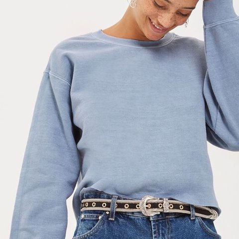 7afcdc0fd7 Cropped Baby Blue Sweatshirt from pacsun