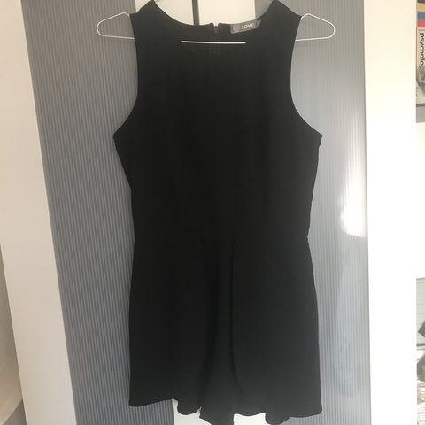 1729927735e Plain black playsuit from a brand featured at topshop