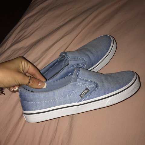 9e481332deb women s size 6 brand new never worn cute jean vans  jean - Depop