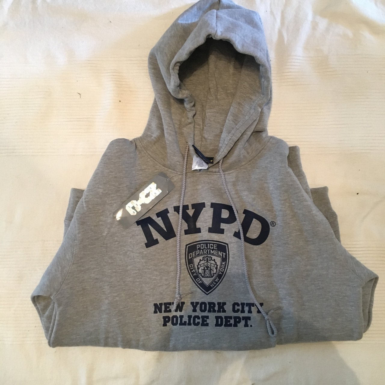 3c9ab7337 @gravey_garms. 9 months ago. London, United Kingdom. brand new NYPD grey  hoodie ...