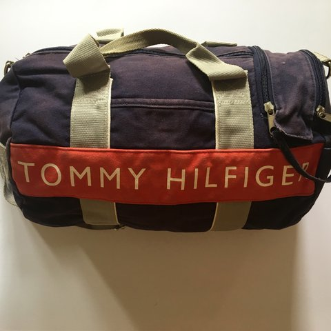 Authentic vintage TOMMY HILFIGER mini duffle bag with and on - Depop a3052cd32bccd