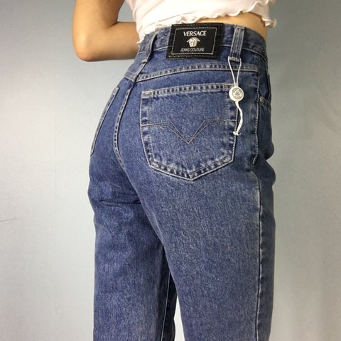 68f2051f13527 Versace jeans couture mom jeans. High waist. Tapered leg fit - Depop