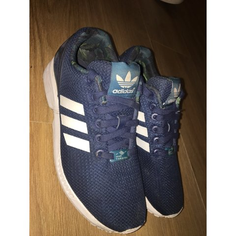 detailed look 6210d 92b8a  naomiheiler. 5 months ago. Enfield, United Kingdom. Adidas ZX Flux navy  blue and white ...
