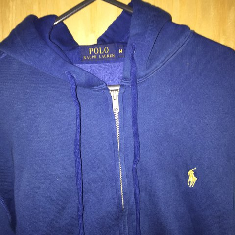 542437de6 ... canada dyed blue mens polo ralph lauren zip hoodie originally for depop  8fad0 8eb32