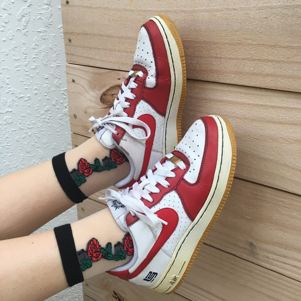 Vintage 1982 red and white Nike Air Force Ones! Depop