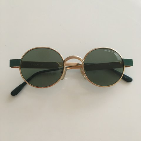 f96521e39 Incredible vintage 90s oval Lacoste sunglasses made in with - Depop