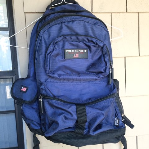 96055e58b @cannonscloset. 3 years ago. California, USA. Vintage Ralph Lauren Polo  Sport backpack. Durable nylon exterior.