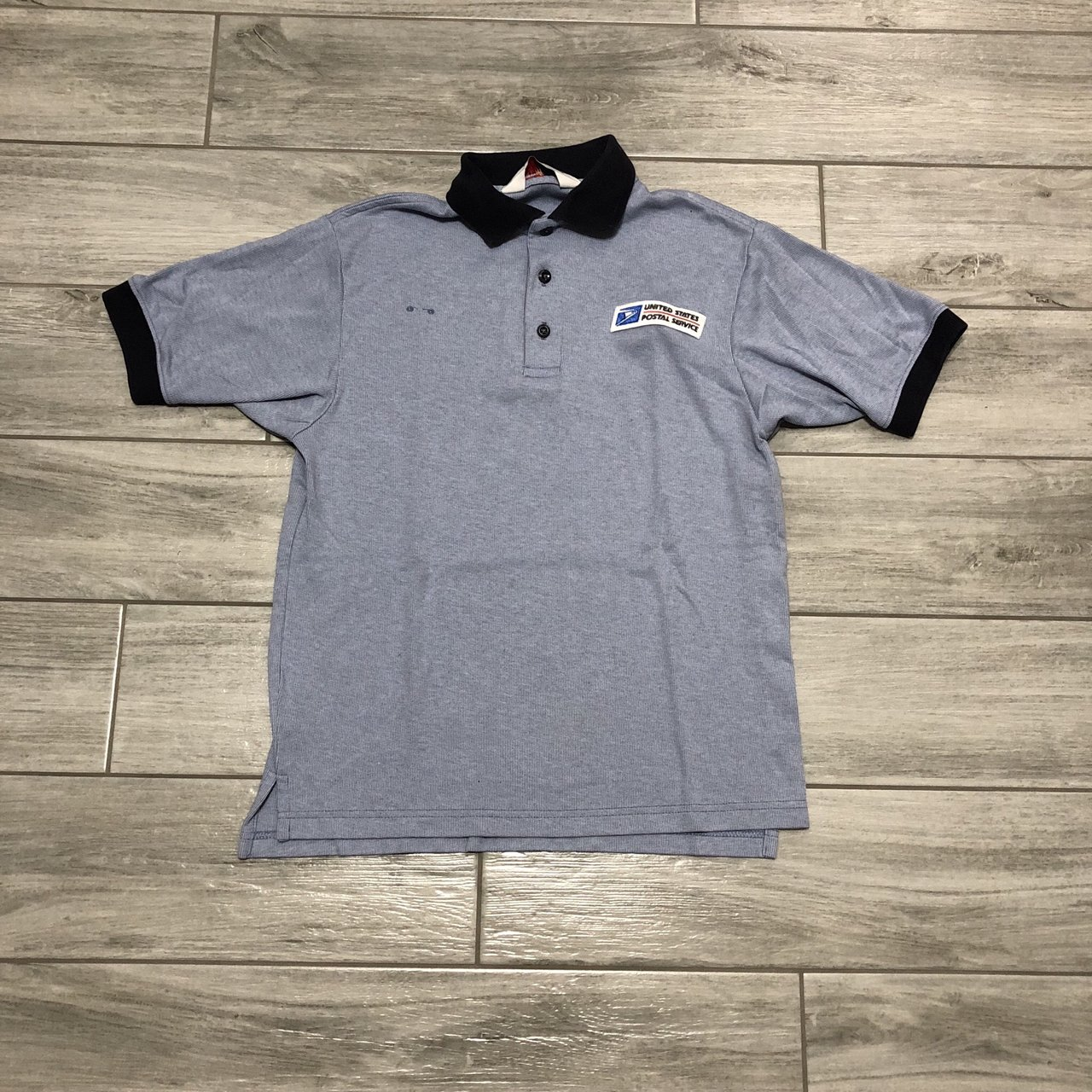 Vintage 90 S Usps Postal Service Polo Shirt Great Tag Say Depop